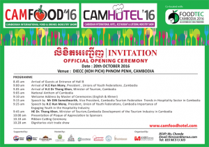 CAMHOTEL CAMFOOD '16 @ Koh Pich/Diamond Island | Phnom Penh | Phnom Penh | Cambodia